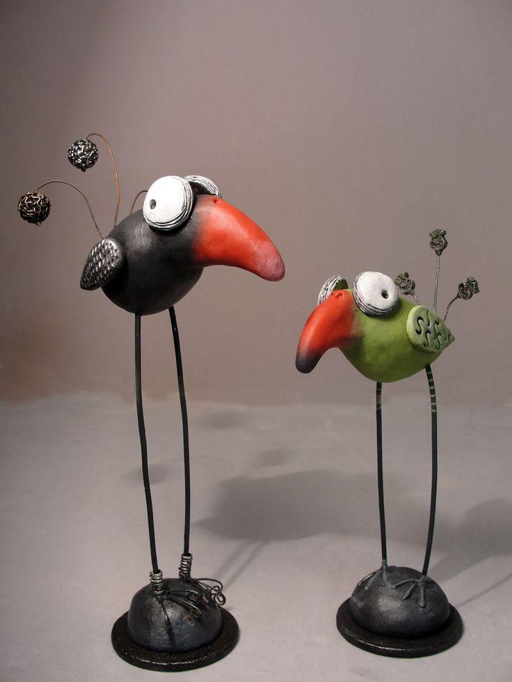birds    Polymer clay