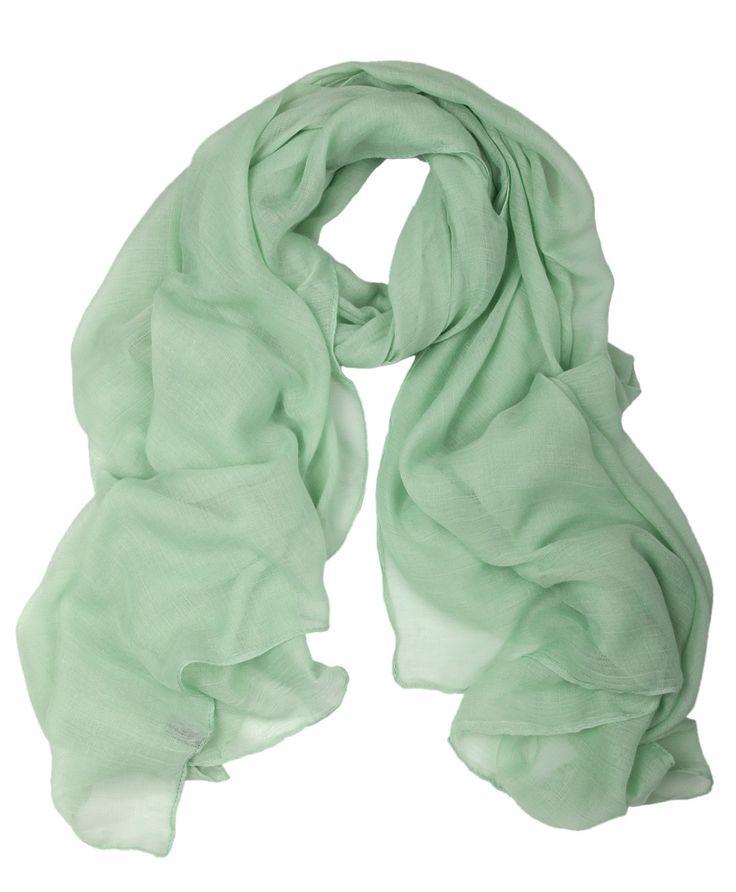 Soft Plain Light Green Hijab
