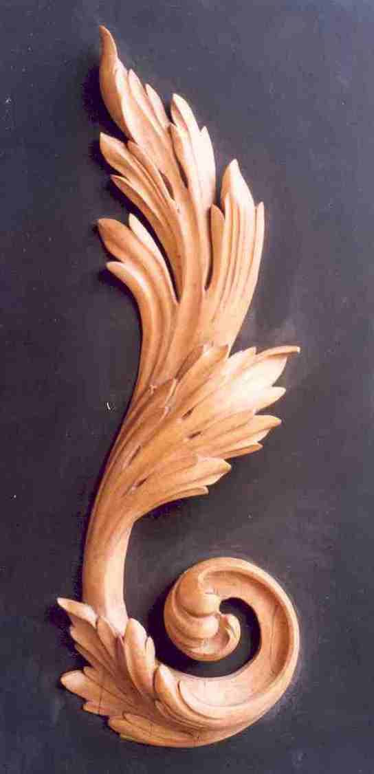 how to carve acanthus leaves