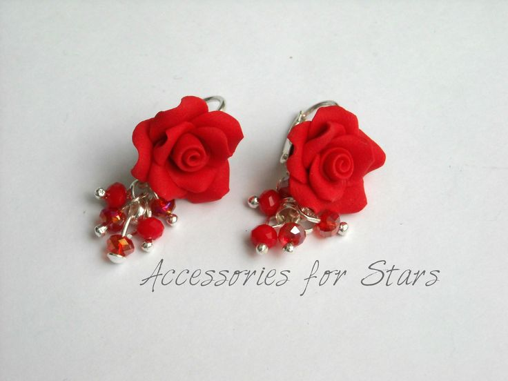 http://accessoriesforstars.blogspot.ro/2015/01/cercei-passionate-perfume.html #red #coral #earrings #silver #beads #accessoriesforstars #roses