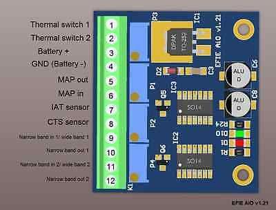 Hidrogénio EFIE chip de computador Fuel Saver Mapa Tai Cts de largura de banda estreita do sensor de oxigénio
