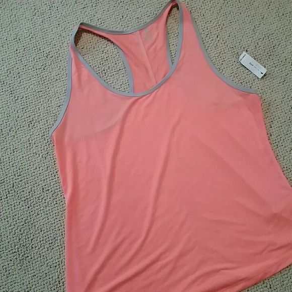 Old Navy Active Tank Old Nsvy Active Semi-fitted tank in neon orange with light gray accents. Racerback. Old Navy Tops Tank Tops