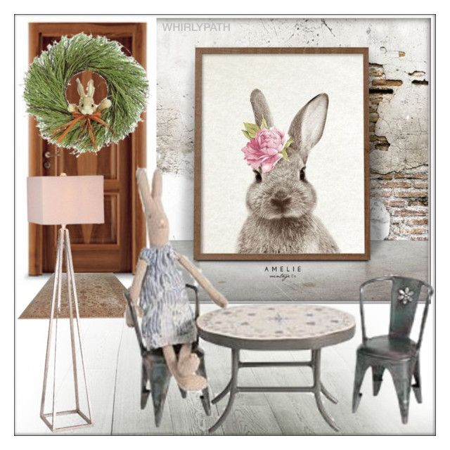 Rabbit Condo! by whirlypath on Polyvore featuring interior, interiors, interior design, home, home decor, interior decorating and JAlexander