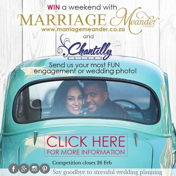 Enter the 2017 Marriage Meander Summer Competition to stand a chance of winning big!   THE WINNER WILL BE ANNOUNCED ON 1st MARCH 2017.  Click here to find out how http://bit.ly/2h2NJMQ