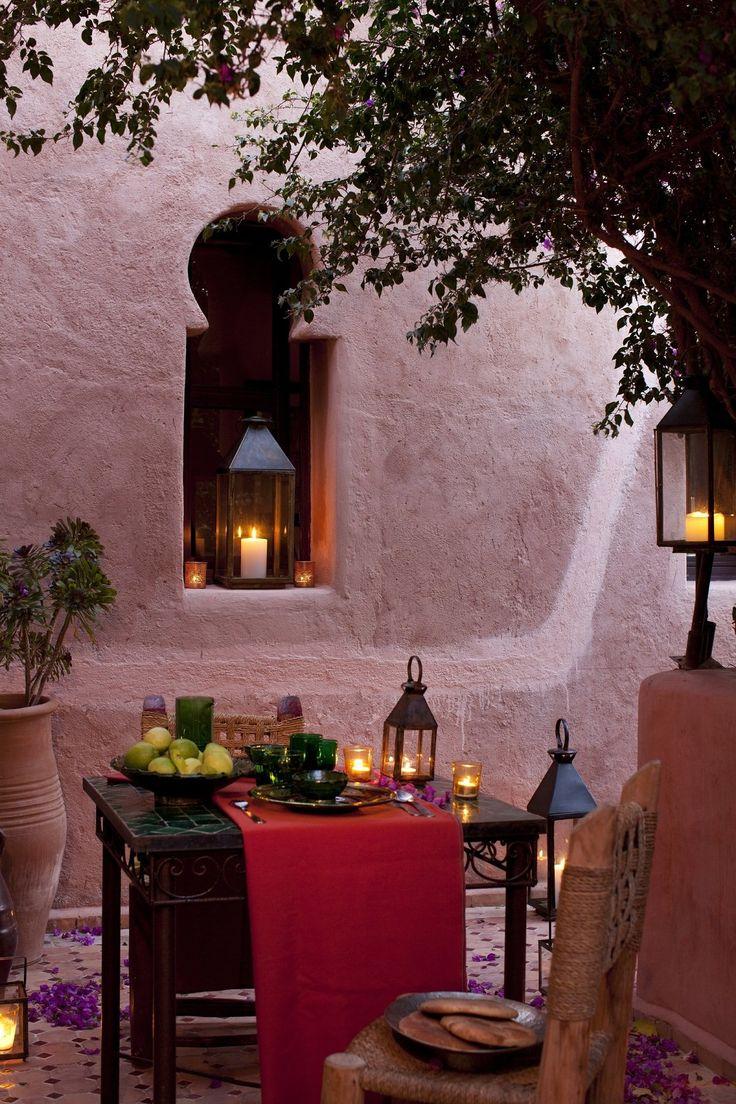 """gyclli: """" Al fresco dining/Morocco   luxuryaccommodationsblog.com """""""