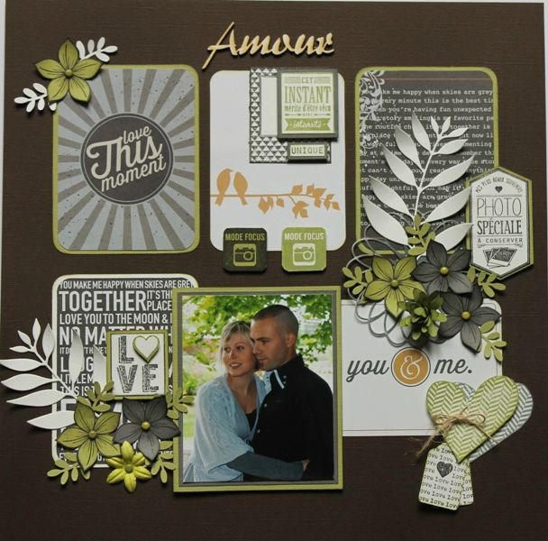Variations autour du Core Kit Becky Higgings : pages de Thalie