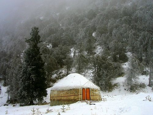 Yurt in Kyrgyzstan.