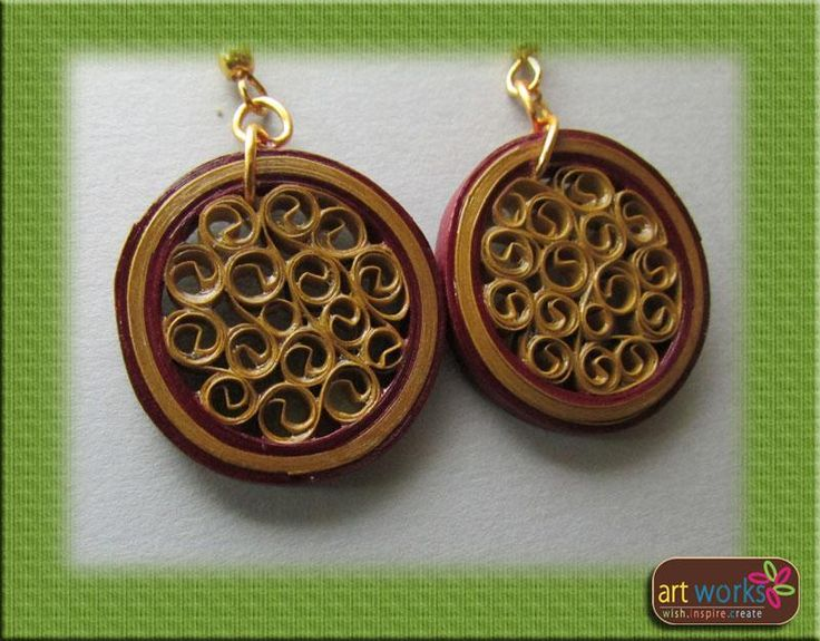 Colorful Handmade Quilled Earrings