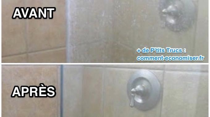 1000 id es sur le th me cabine de douche sur pinterest for Enlever calcaire sur carrelage douche