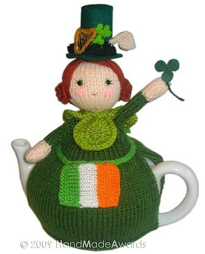 a crochet tea cosy