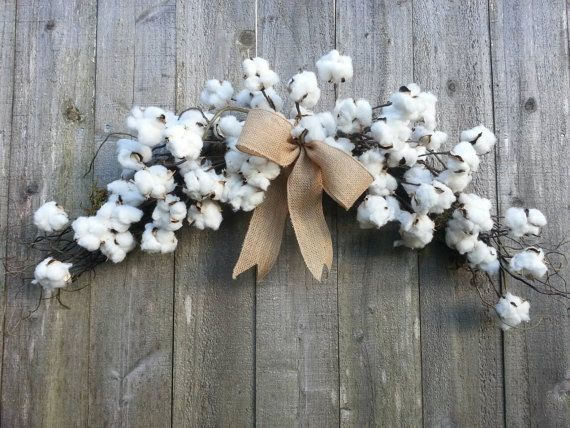 Cotton Boll Arch Swag Cotton Wreath Bedroom Pinterest