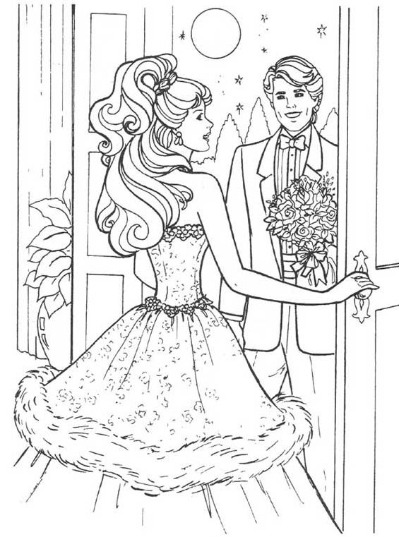 185 best Barbie Coloring pages images on Pinterest ...