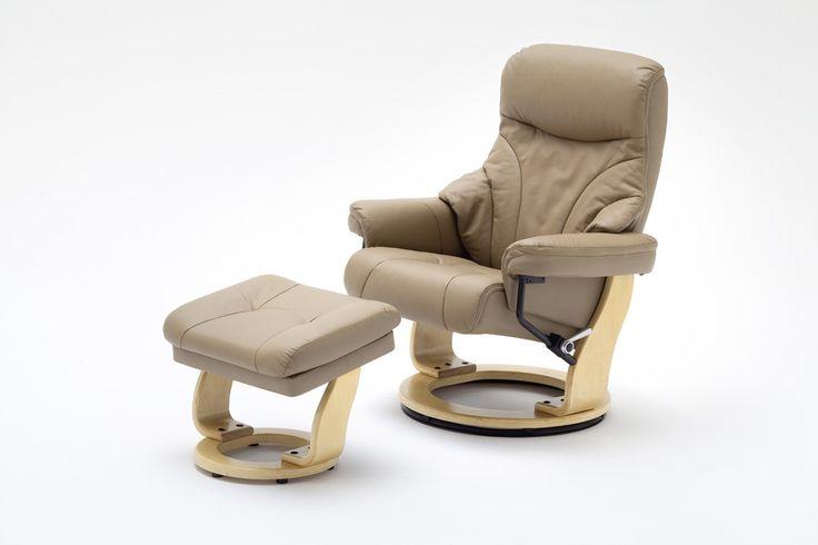 Relax-Sessel Oslo mit Hocker Absolut hochwertig verarbeiteter bequemer Wohnsessel in ansprechendem Design. Ein zeitloses Möbelstück zum Entspannen mit raffinierten Details für einen erstklassigen Sitz-...