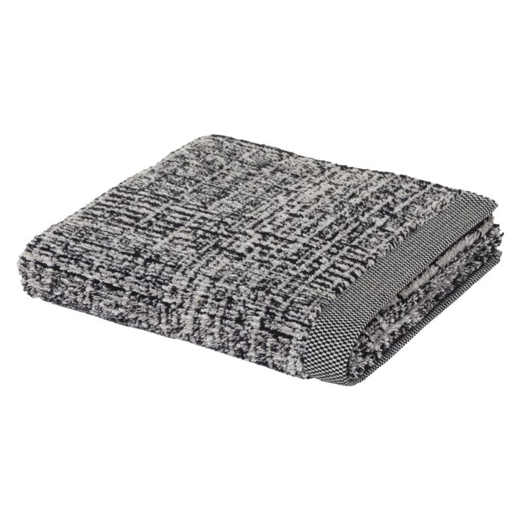 Duschtuch Tweed - Mischgewebe Nature/Black