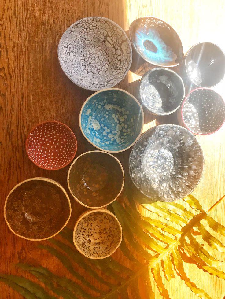 Smooch Ceramics Bowls. Each Piece is one of a kind #ceramics #pottery #handmade #bohemiantabledecor #smoochceramics