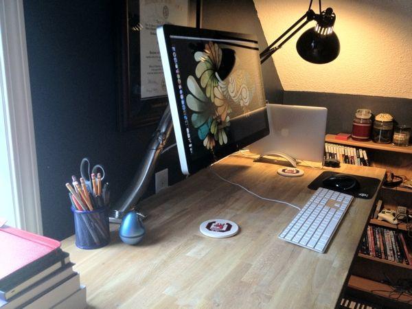 Geek Desk with Custom IKEA Top Height Adjustable Standing Desk - Partial DIY
