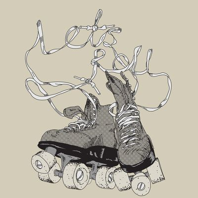Laces typography. #rollerskates