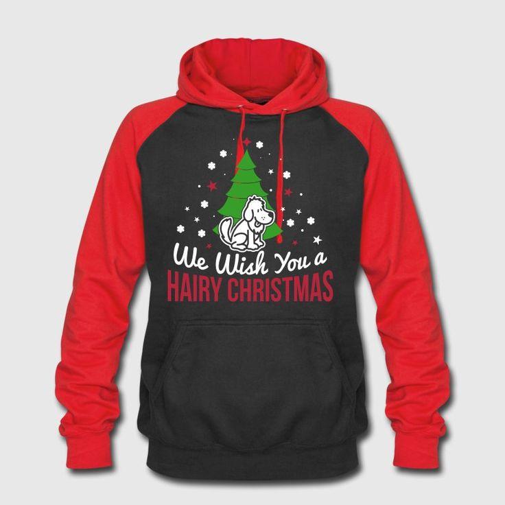 Ønsker du en behåret jul, hund, hunde, hunde trøje, funny, hunde, humor, cool stave, gave hund, elskerinde, master, pote, kæledyr, behårede jul vi