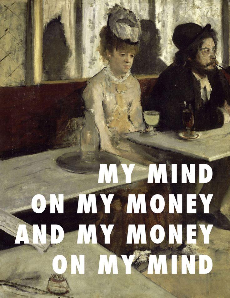 "flyartproductions: "" L'Gin and Juice L'Absinthe (1876), Edgar Degas / Gin and Juice, Snoop Dogg """