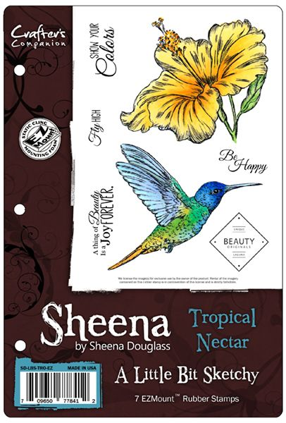 Sheena's A Little Bit Sketchy EZMount™ Stamp Set - Tropical Nectar