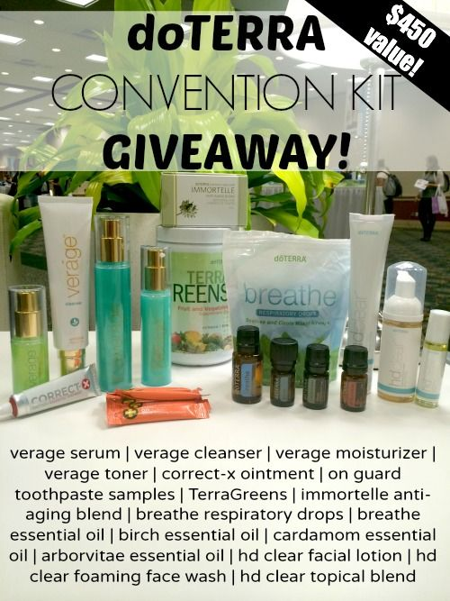 doTERRA Convention Kit Giveaway! $450 value! Get first dibs on the exclusive new essential oil and products from doTERRA! www.thepaleomama.com/essential-oils