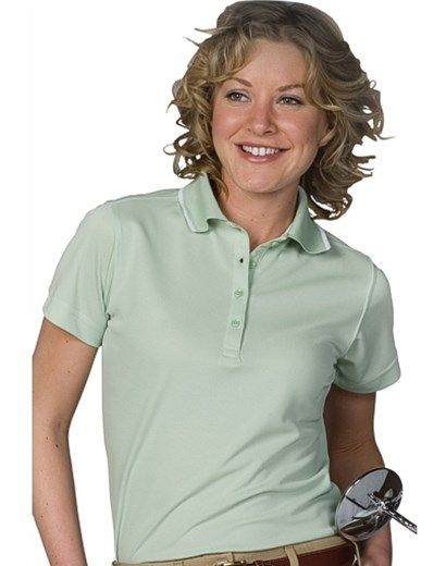 Ladies Polo Shirt, Shrink-wrinkle resistant, 4-oz spun poly, 4-button, 7-colors, XXS-Plus Size 3XL. Free shipping, custom logo embroidery True to Size Apparel