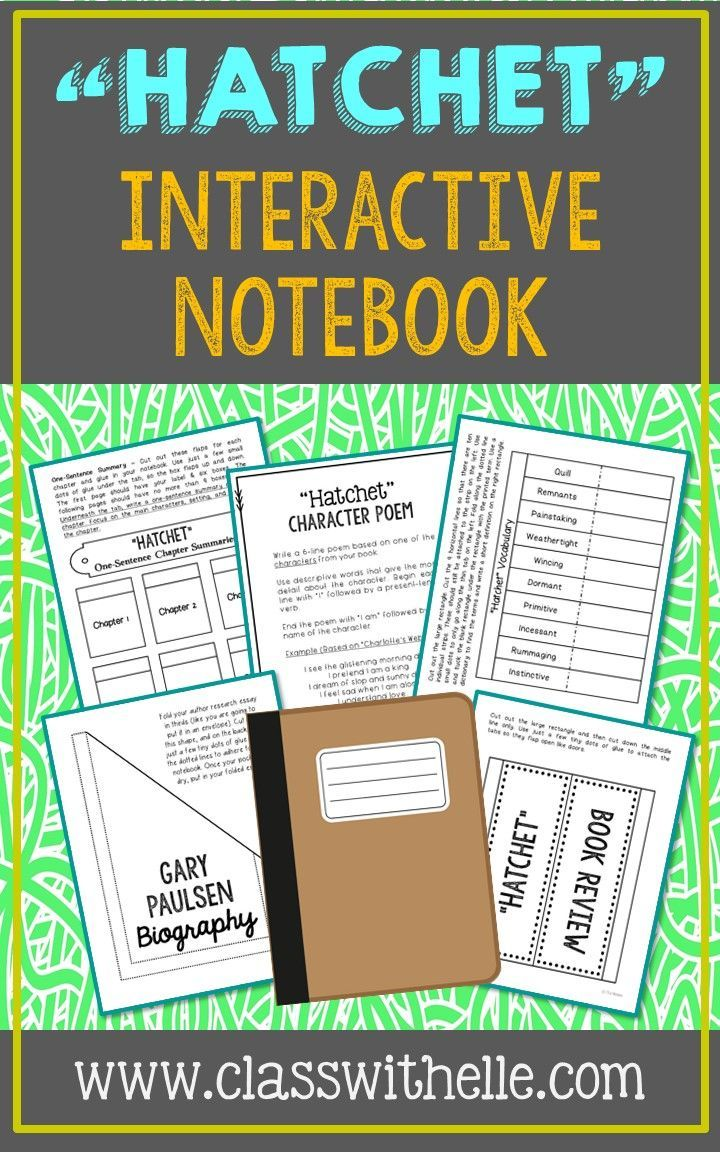 best ideas about gary paulsen hatchet activities hatchet by gary paulsen interactive notebook novel study this unit includes vocabulary terms poetry