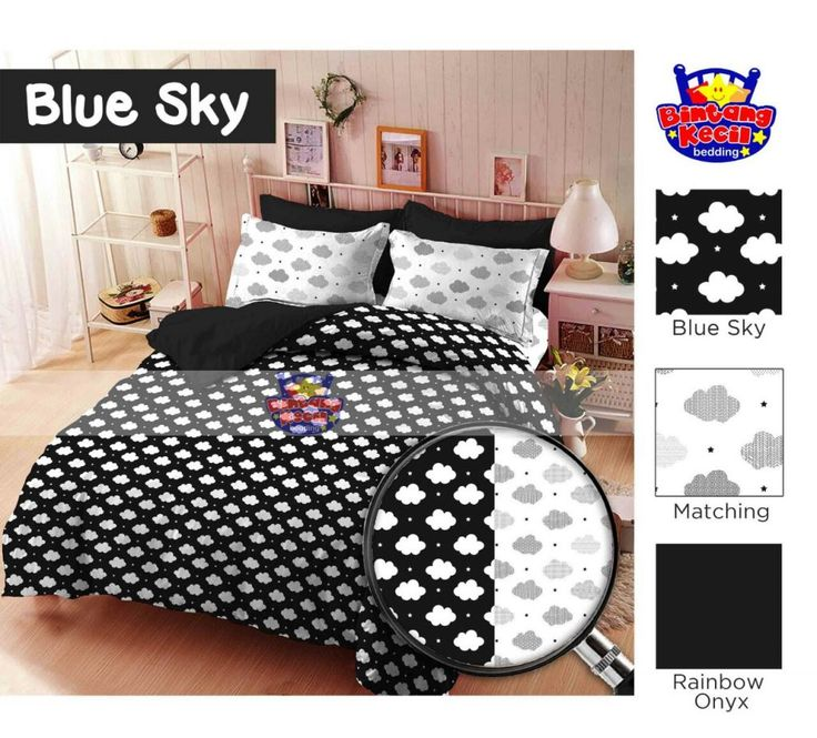 Blue Sky hitam putih