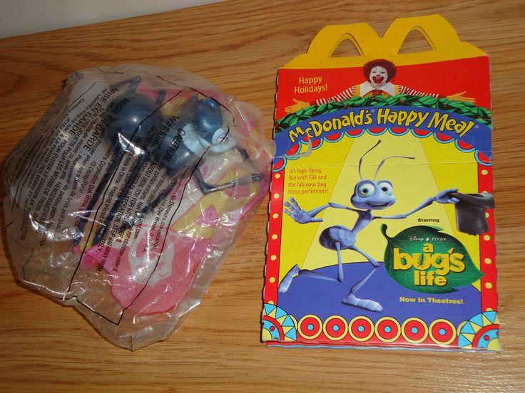 McDonald's Disney A Bug's Life ROSIE SPIDER Wind Up Toy w/Happy Meal Box  #Disney