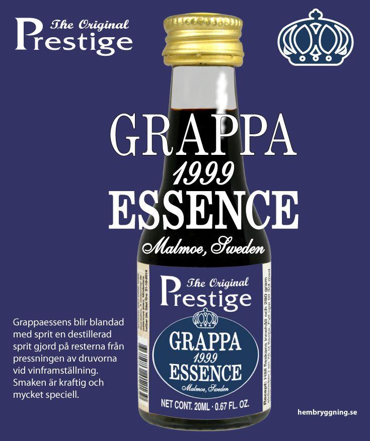 Grappaessens blir blandad med sprit en destillerad sprit gjord på resterna från pressningen av druvorna vid vinframställning. Smaken är kraftig och mycket speciell.