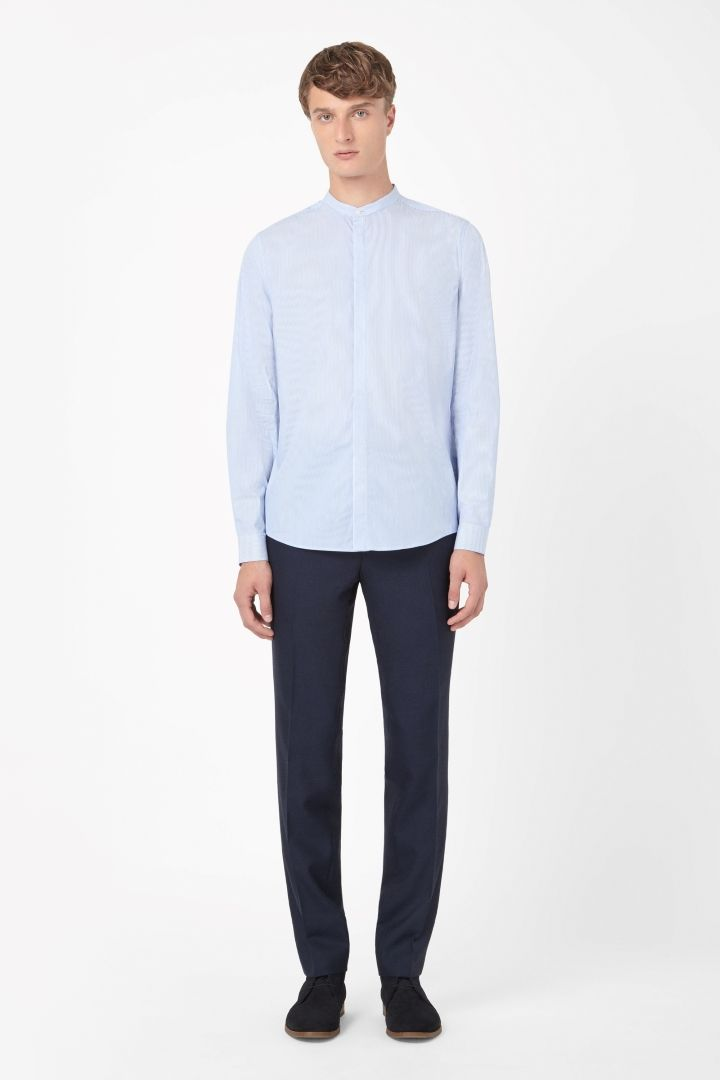 COS | Striped grandad shirt