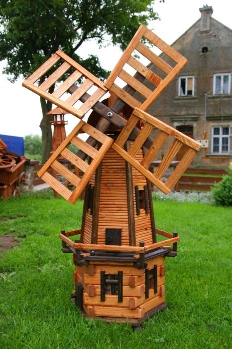wooden garden windmill - Google Search