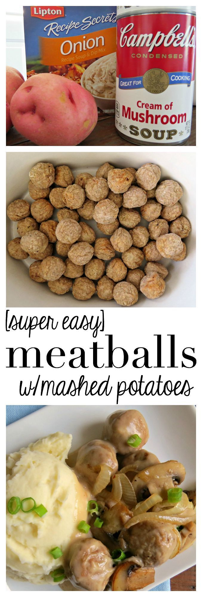 Super Easy Meatballs with Mashed Potatoes recipe