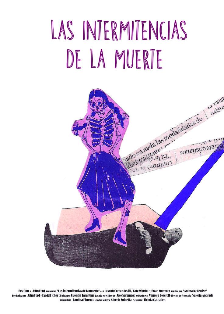 """Proyecto afiche """"Las Intermitencias de la Muerte"""". Valeria Andrade."""