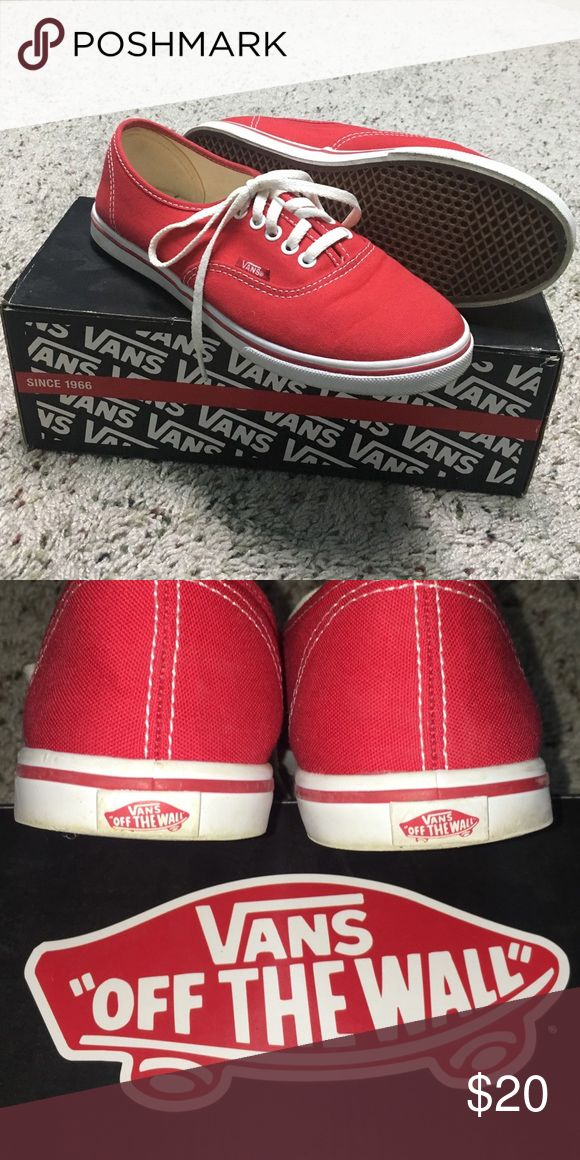 """Red Vans Size 6 Red Vans """"off the wall"""" comes in a box, in good condition, used once. Vans Shoes"""