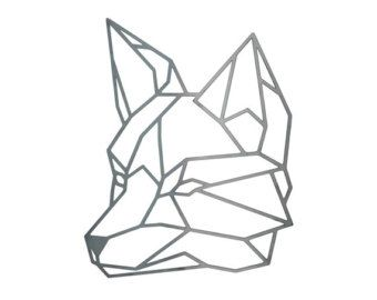 Geometric Fox Steel Geometric Fox Fox Wall Art by FactoryCustomFab                                                                                                                                                                                 Más
