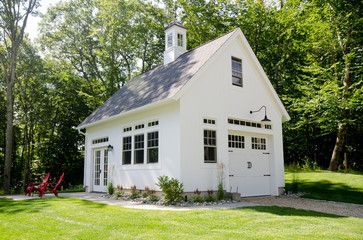 Connecticut Golf Couse Estate Home - farmhouse - Garage And Shed - New York - Uccello Development, LLC