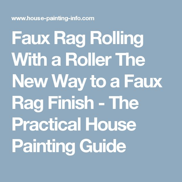 Faux Rag Rolling With A Roller The New Way To A Faux Rag Finish   The ·  House PaintingsFaux PaintingRollersBasement