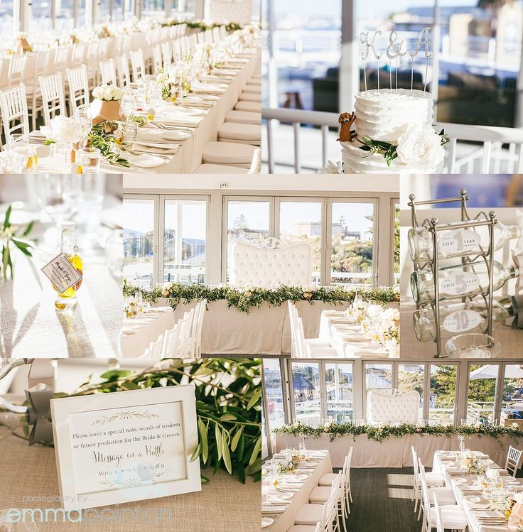 Bathers Beach House wedding - Classic styling by Mardie & Co, florals by Matthew Landers.