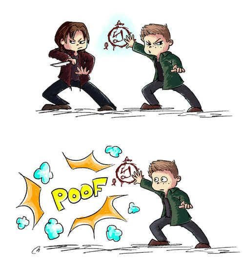 """""""Well… I think we are going to have a little problem here"""" (c) theevilteaspoon #FanArt #SPNS9"""