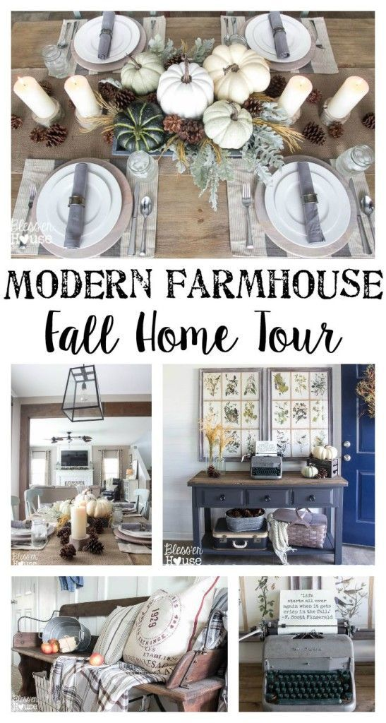2015 Modern Farmhouse Fall Tour | Bless'er House - Gorgeous fall home decor ideas!