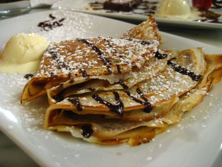 Alton Brown's recipe for crepes. AMAZING, especially rolled up with a thin layer of dulce de leche <3