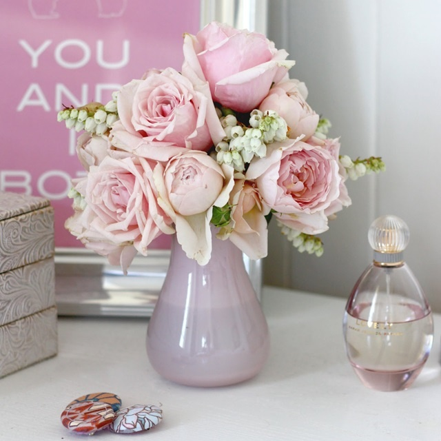 peonies, roses, and the vase