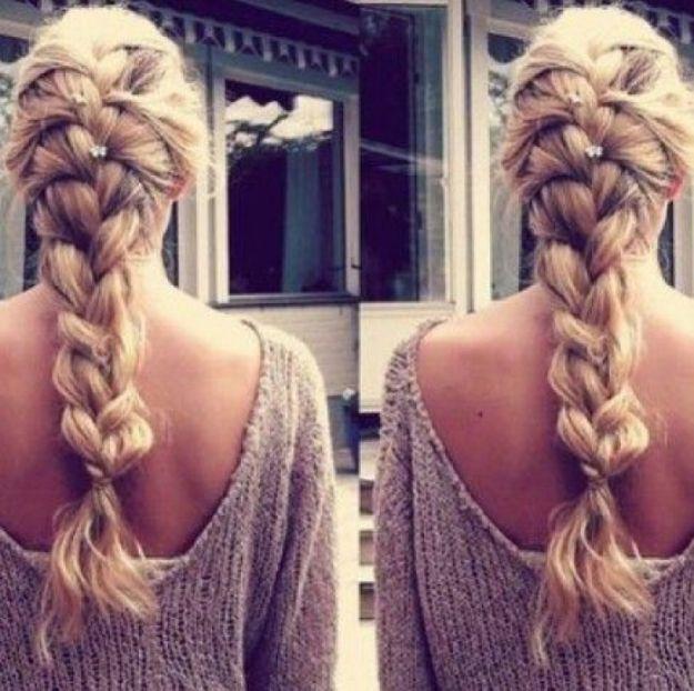 Прическа из косичек - французская коса ::: onelady.ru ::: #hair #hairs #hairstyle #hairstyles