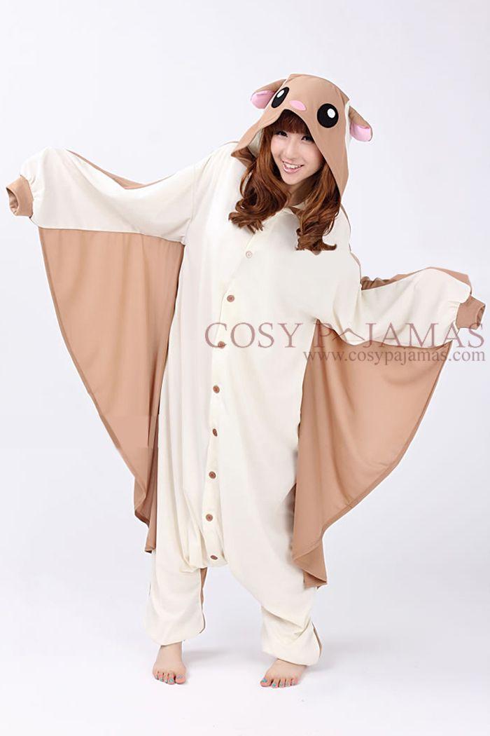 Animal Costume Flying Squirrel Adult Onesie Kigurumi Pajamas-- it comes with a blanket!!