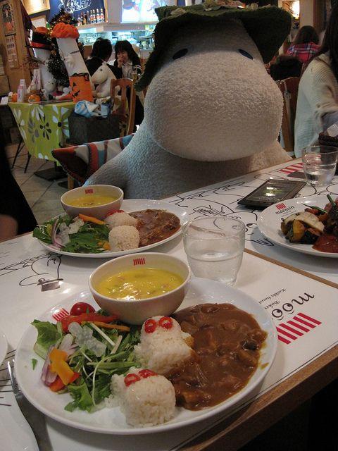 Moomin Cafe - Tokyo Dome, via Flickr.