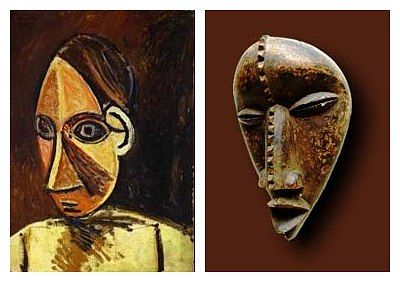 Picasso draws inspiration from african masks and the cubism movement is born.