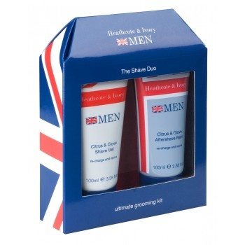 Men's Shave Duo - Shave Gel & Aftershave Balm - £7. Includes; Citrus & Clove Shave Gel 1 x 100ml, Citrus & Clove Aftershave Balm 1 x 100ml. Infused with an aromatic blend of cinnamon, clove and cardamon whilst freshened with bergamot & mandarin. #Father's #Day #HeathcoteIvory
