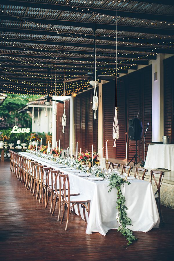 outdoor receptions - photo by Chloe Murdoch Photography http://ruffledblog.com/romantic-costa-rica-wedding