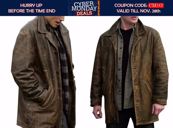 Dean Winchester Supernatural leather jacket with distressed look is available at Fit Jackets for $169 with free shipping and gifts. CYBER MODAY. GET UPTO 40% DISCOUNT WITH FREE SHIPPING AND GIFT.  #DeanWinchester #dramaseries #Supernatural #Cybermonday #Celebrity #Sale #Shopping #Cosplay #geektyrant #geek #cheezburger #LeatherOutfit #Fashion #MensCoat #MovieJacket #MensOutfit #MensFashion